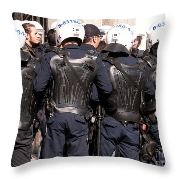 Not The Ninja Turtles Throw Pillow by Rick Piper Photography
