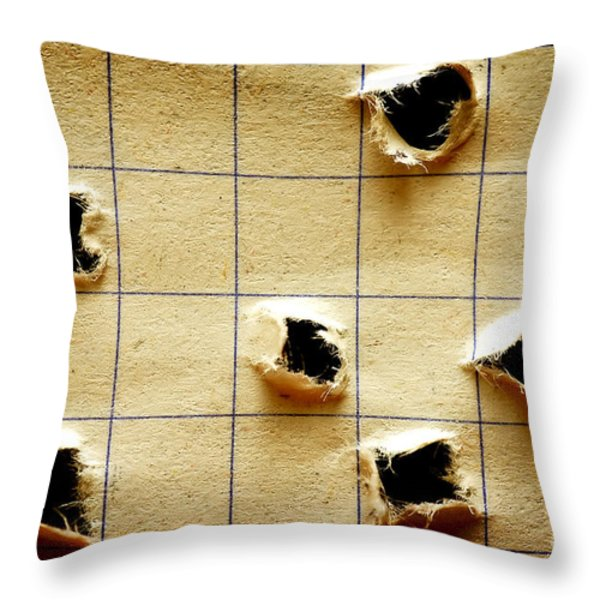 Notebook With Holes Throw Pillow by Michal Bednarek
