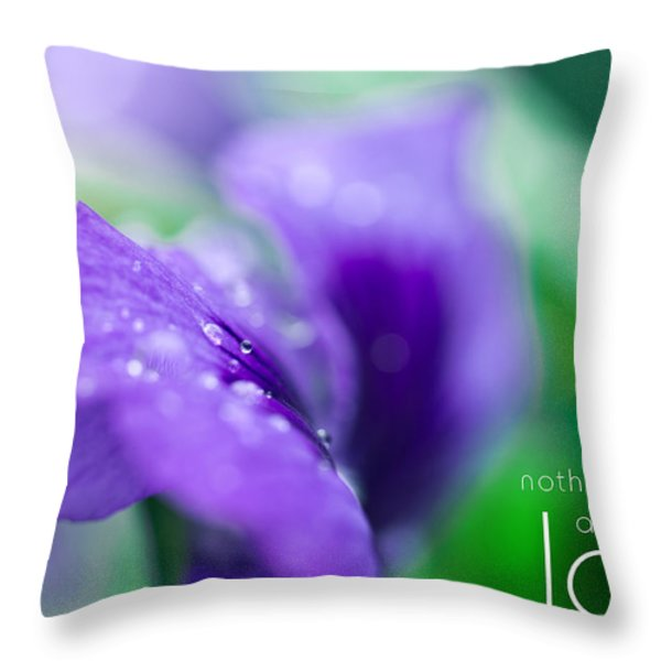 Nothing Falls As Deep As Love Throw Pillow by Shane Holsclaw