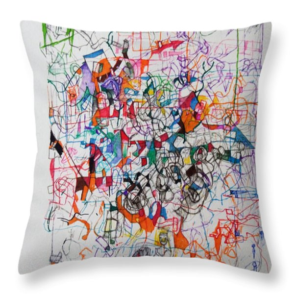 Nothing Left But Prayer Throw Pillow by David Baruch Wolk
