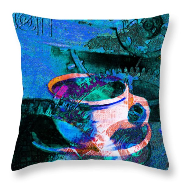 Nothing Like A Hot Cuppa Joe In The Morning To Get The Old Wheels Turning 20130718p168 Throw Pillow by Wingsdomain Art and Photography