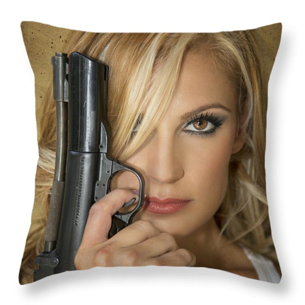 Nothing To Fear Throw Pillow by Evelina Kremsdorf