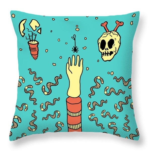 Nowhere Fast Throw Pillow by Freshinkstain
