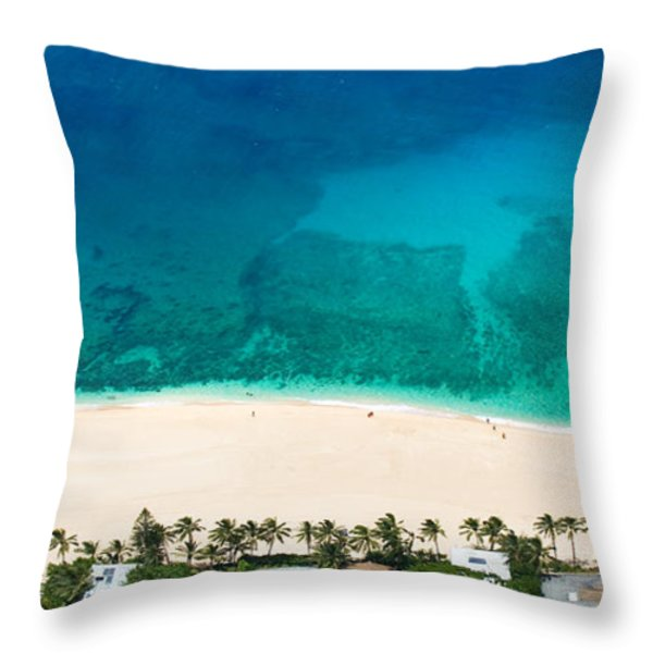 Nth shore overviews 0.8.19.05 Throw Pillow by Sean Davey