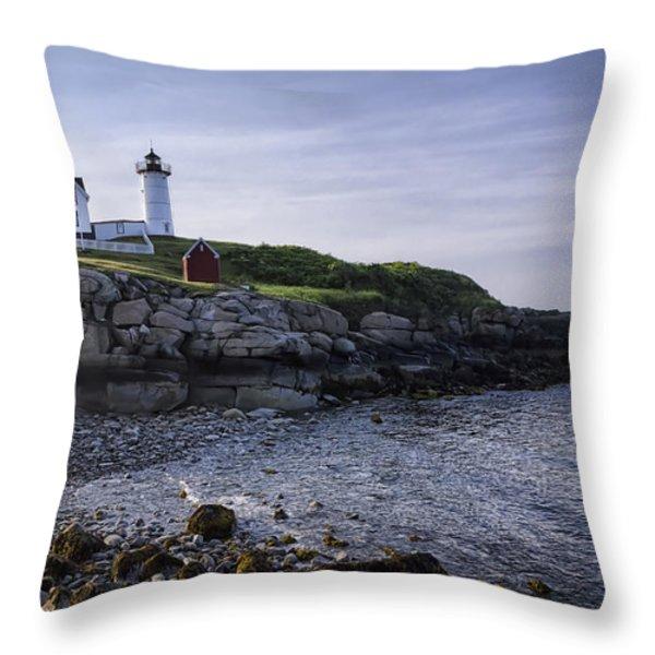 Nubble Dawn Throw Pillow by Joan Carroll