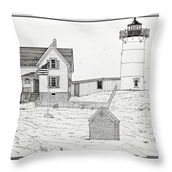 Nubble Light Throw Pillow by Ira Shander