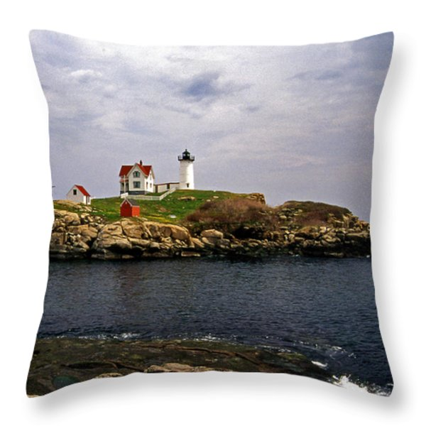 NUBLE LIGHTHOUSE Throw Pillow by Skip Willits