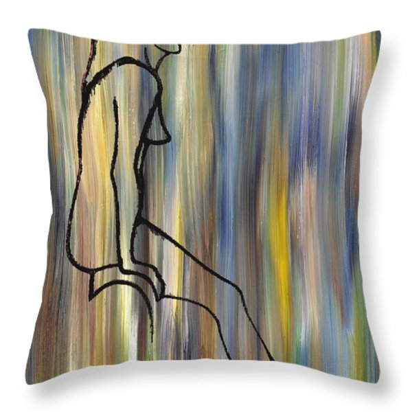 Nude 14 Throw Pillow by Patrick J Murphy
