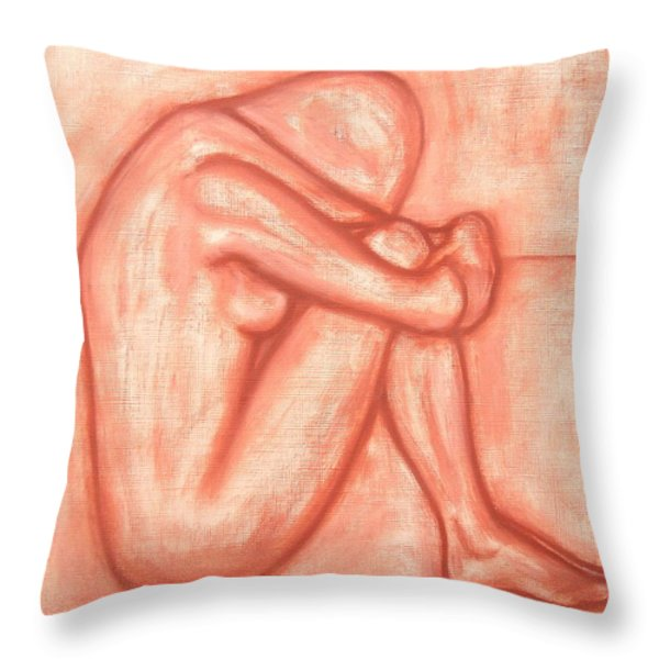 NUDE 8 Throw Pillow by Patrick J Murphy