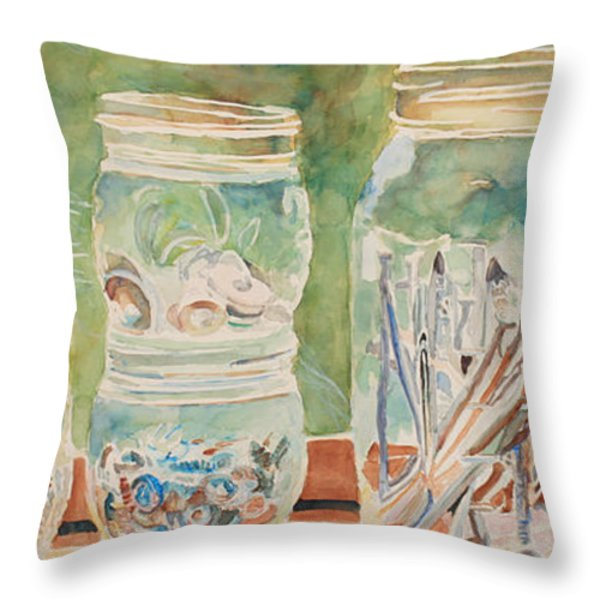 Nuts and Bolts Impression Throw Pillow by Jenny Armitage