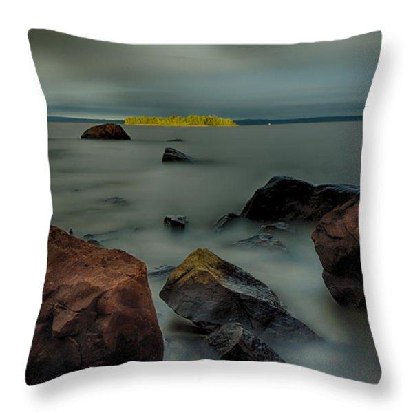 Nuttall Island Last Sunlight Throw Pillow by Jakub Sisak