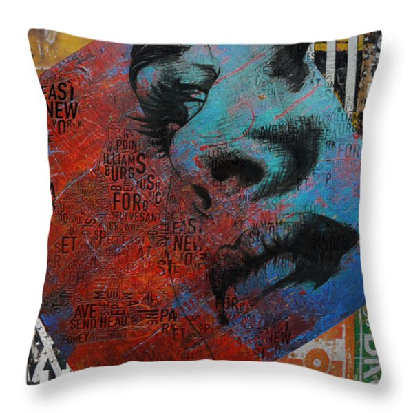 Ny City Collage - 8 Throw Pillow by Corporate Art Task Force