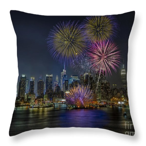NYC Celebrates Fleet Week Throw Pillow by Susan Candelario