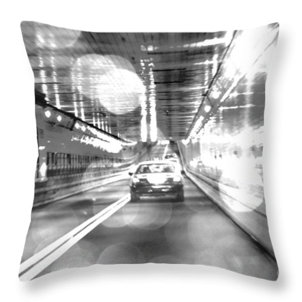 Nyc Lights And Movements Throw Pillow by Anahi DeCanio