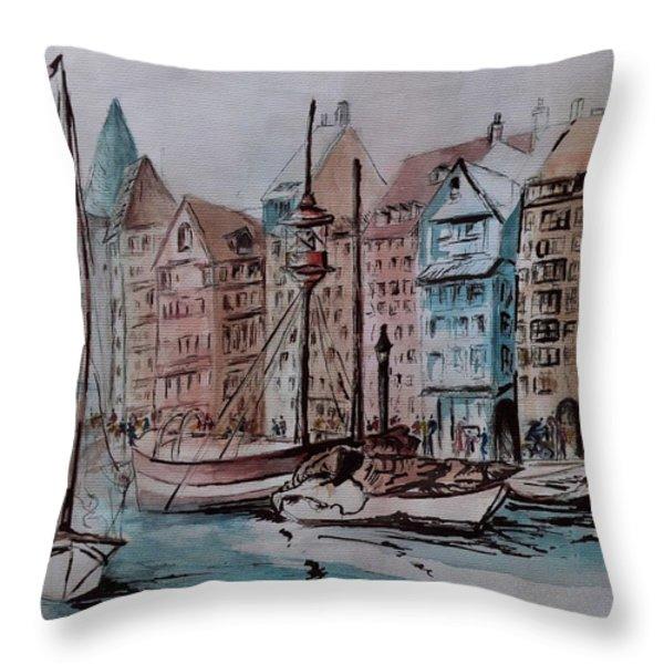 Nyhavn Throw Pillow by Csilla Florida