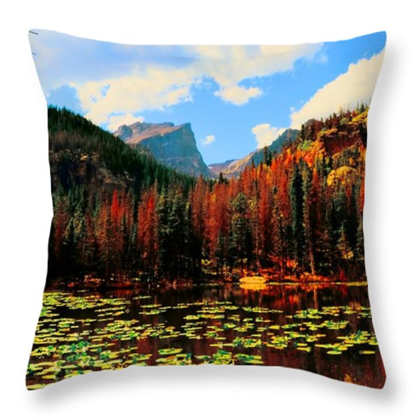 Nymph Lake Throw Pillow by Kathleen Struckle