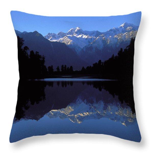 Nz Alps Throw Pillow by Steven Ralser