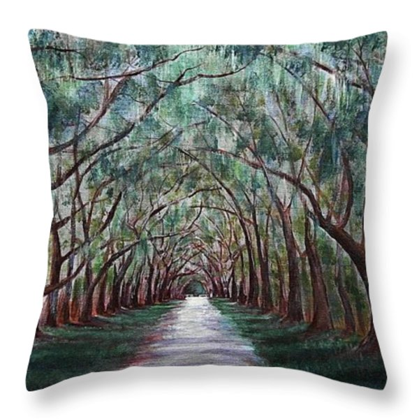 Oak Avenue Throw Pillow by Anastasiya Malakhova