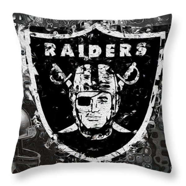 Oakland Raiders Throw Pillow by Jack Zulli