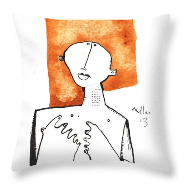 Oaths No.1 Throw Pillow by Mark M  Mellon