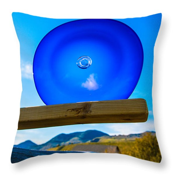 Observing The Future Throw Pillow by Omaste Witkowski