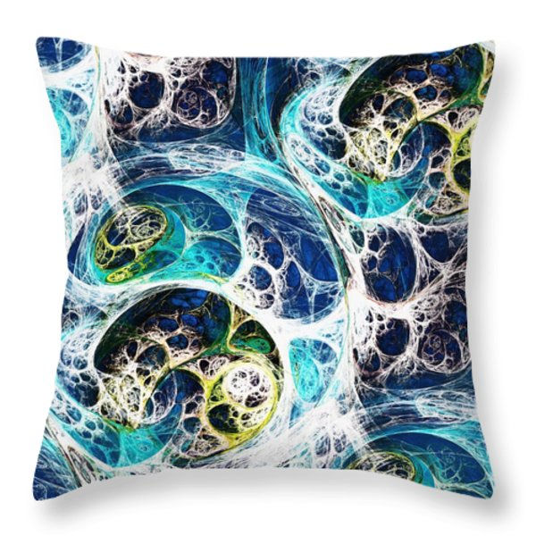Ocean Throw Pillow by Anastasiya Malakhova