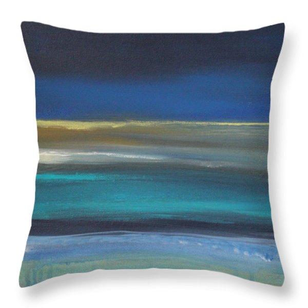 Ocean Blue 2 Throw Pillow by Linda Woods