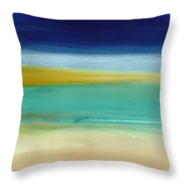 Ocean Blue 3 Throw Pillow by Linda Woods