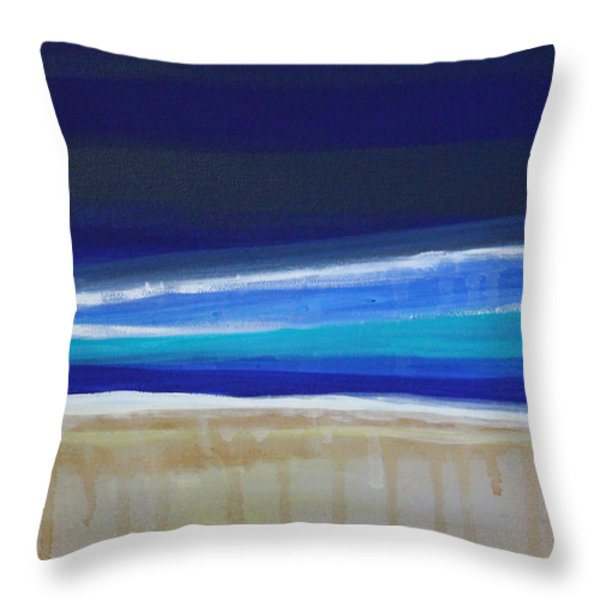 Ocean Blue Throw Pillow by Linda Woods