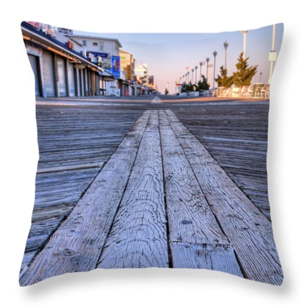 Ocean City Throw Pillow by JC Findley
