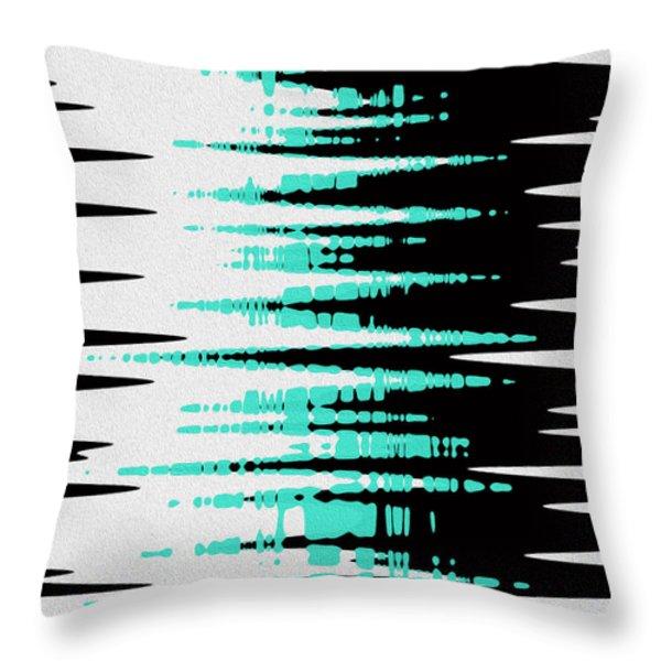 Ocean Gentle Waves abstract digital painting Throw Pillow by Georgeta Blanaru