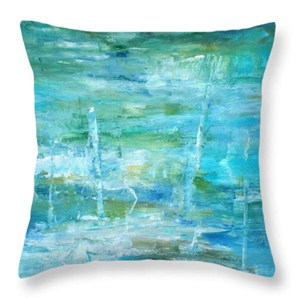 Ocean I Throw Pillow by Tia Marie McDermid