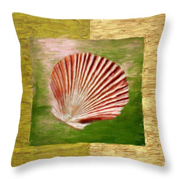 Ocean Life Throw Pillow by Lourry Legarde