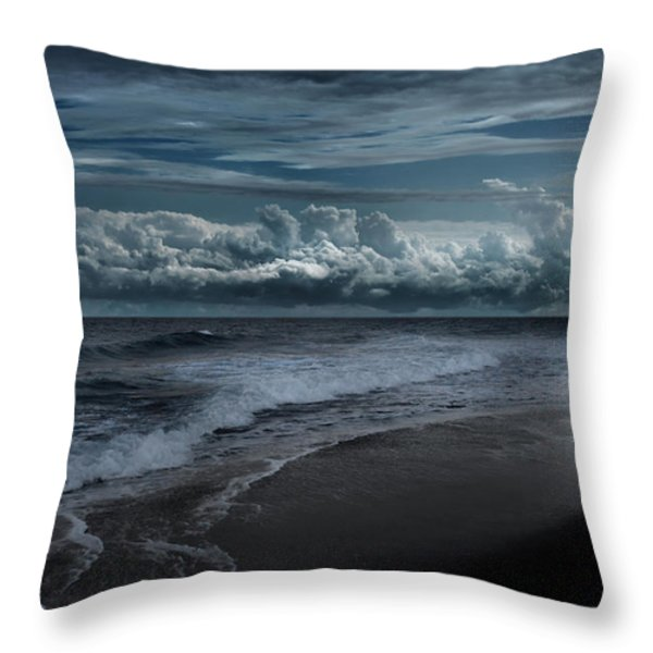 Ocean Moon Throw Pillow by Bill  Wakeley
