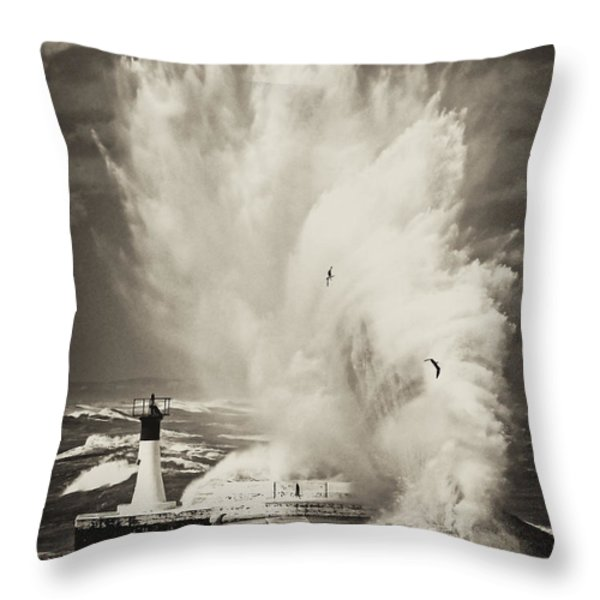 Ocean Motion Throw Pillow by Andrew  Hewett