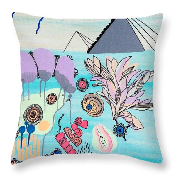 Ocean Parade Throw Pillow by Susan Claire