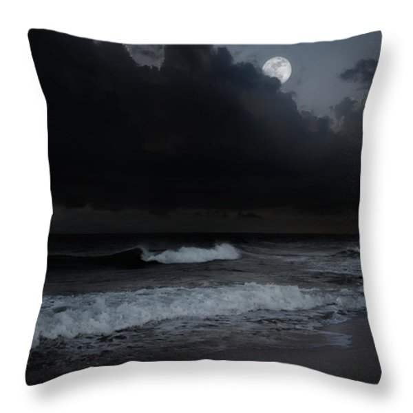 Ocean Storm Throw Pillow by Bill  Wakeley