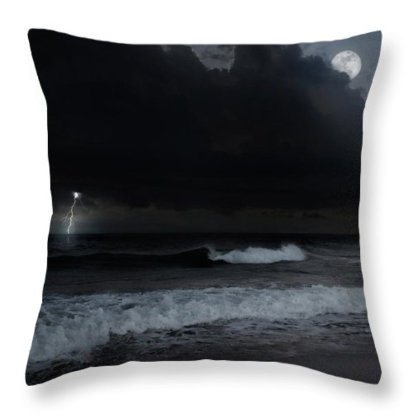 Ocean Storm Square Throw Pillow by Bill  Wakeley