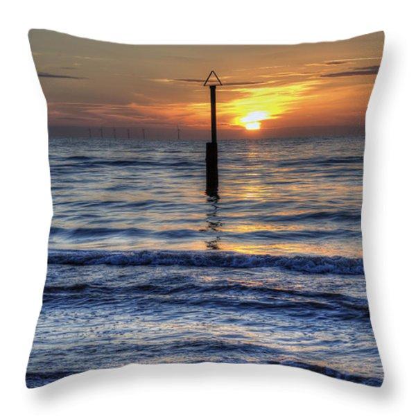 Ocean Sunset Throw Pillow by Ian Mitchell