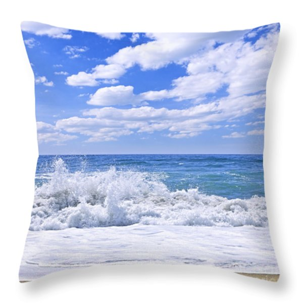 Ocean surf Throw Pillow by Elena Elisseeva