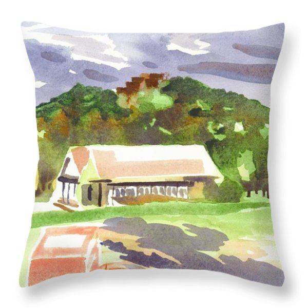 October Shadows at Fort Davidson Throw Pillow by Kip DeVore
