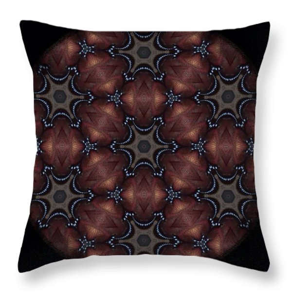 Octopus Mandala Throw Pillow by Karen Buford