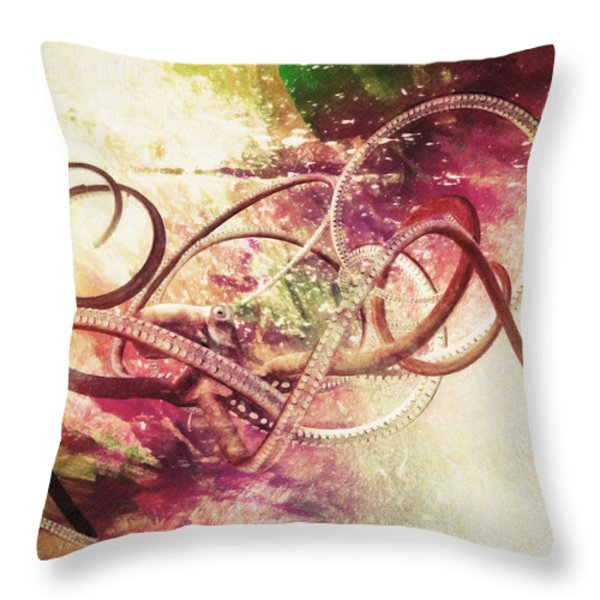 Octopus Throw Pillow by Taylan Soyturk