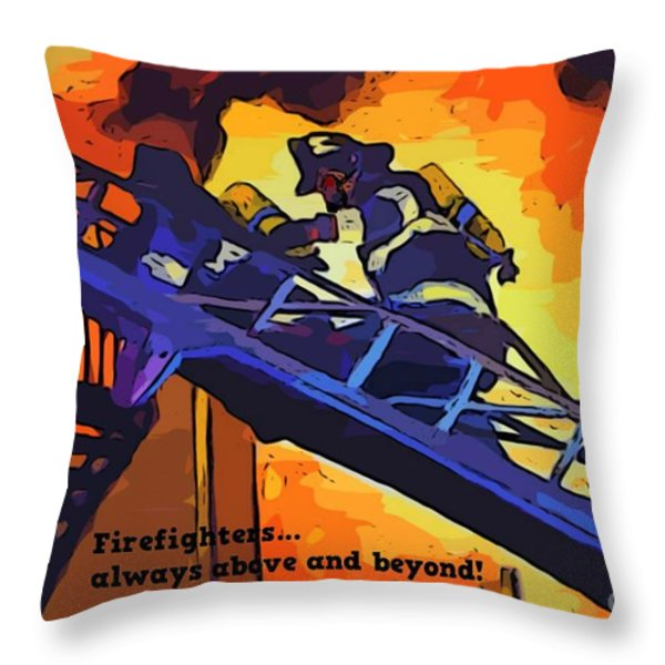 Ode To Our Heros Throw Pillow by John Malone
