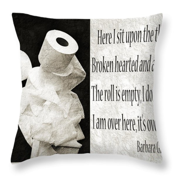 Ode To The Spare Roll BW 2 Throw Pillow by Andee Design