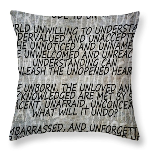 Ode To Un Throw Pillow by Angelina Vick