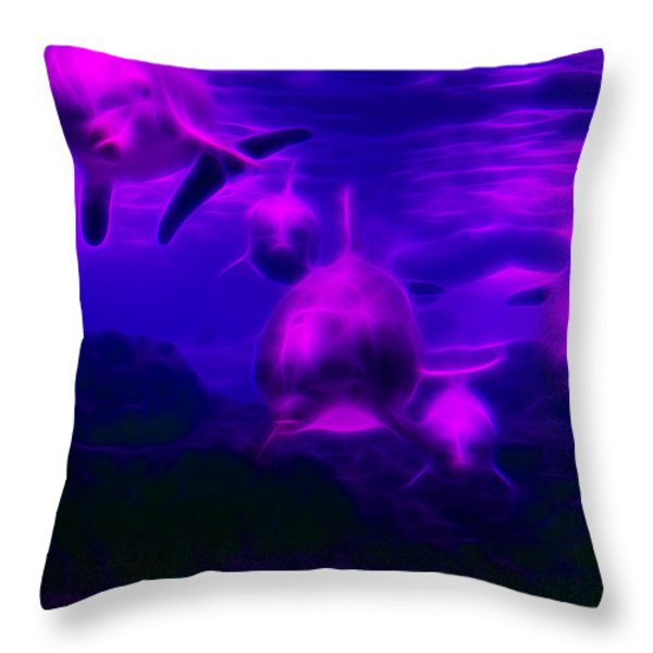 Odyssey V1 Throw Pillow by Wingsdomain Art and Photography