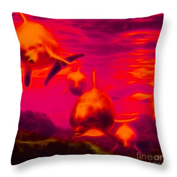 Odyssey v2 - square Throw Pillow by Wingsdomain Art and Photography