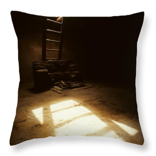 Of Light And Shadow Pecos Ruin Throw Pillow by Bob Christopher