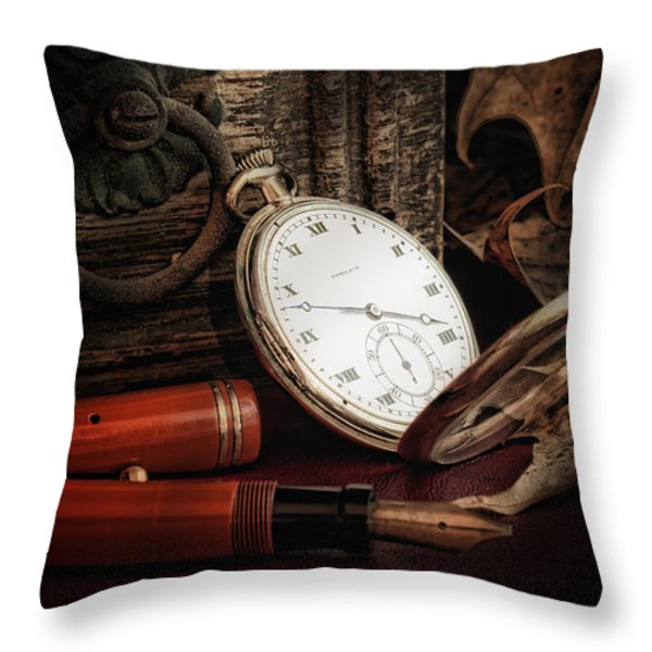 Of Times Gone By Throw Pillow by Tom Mc Nemar